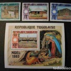 Sellos: TOGO 1983 - NAVIDAD - CHRISTMAS NOEL - YVERT Nº 1095** + A494/495** + BLOCK Nº 176**. Lote 171624912