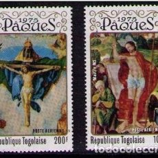 Sellos: TOGO 1975 - PASCUA -PAQUES - EASTER - YVERT Nº A248-249**. Lote 171626169
