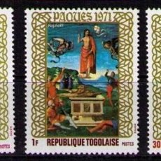 Sellos: TOGO 1971 - PASCUA -PAQUES - EASTER - YVERT Nº 703/705**. Lote 171626763