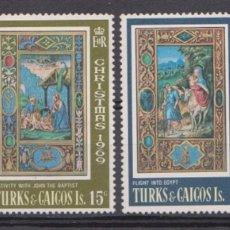 Sellos: TURKS & CAICOS - NAVIDAD - 1969 - SERIE COMPLETA 4V (NR. YVERT: 237/40). Lote 172776219