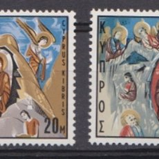 Sellos: CHIPRE - NAVIDAD - 1969 - SERIE COMPLETA 2V (NR. YVERT: 320/21). Lote 172778419