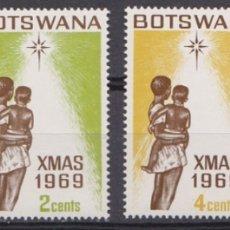 Sellos: BOTSWANA - NAVIDAD - 1969 - SERIE COMPLETA 4V (NR. YVERT: 206/09). Lote 172782560