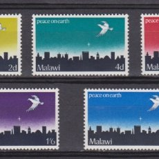 Sellos: MALAWI - NAVIDAD - 1969 - SERIE COMPLETA 5V (NR. YVERT: 118/22). Lote 172782902