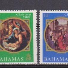 Sellos: BAHAMAS - NAVIDAD - 1969 - SERIE COMPLETA 4V (NR. YVERT: 283/286). Lote 172783299
