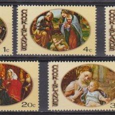 Sellos: COOK ISLAS - NAVIDAD - 1969 - SERIE COMPLETA 5V (NR. YVERT: 217/21). Lote 172783673