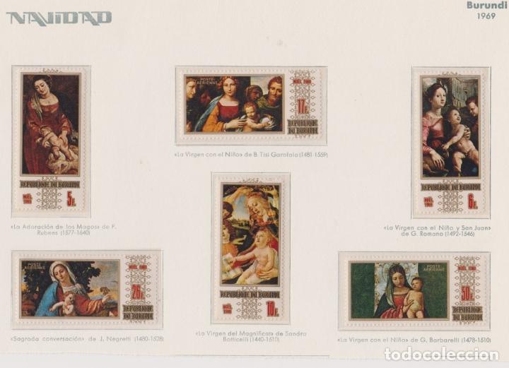 BURUNDI - NAVIDAD - 1969 - SERIE COMPLETA 6V (NR. MICHEL: 531/6) (Sellos - Temáticas - Navidad)