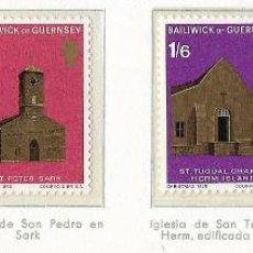 Sellos: GUERNSEY - NAVIDAD - 1970 - SERIE COMPLETA 4V (NR. YVERT: 30/33) . Lote 173861423