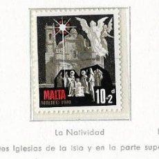 Sellos: MALTA - NAVIDAD - 1970 - SERIE COMPLETA 3V (NR. YVERT: 419/21). Lote 173861825