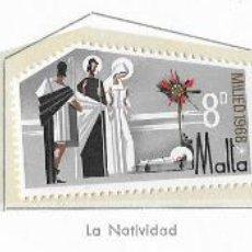 Sellos: MALTA - NAVIDAD - 1968 - SERIE COMPLETA 3V (NR. YVERT: 382/84). Lote 173861912