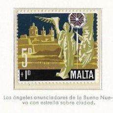 Sellos: MALTA - NAVIDAD - 1969 - SERIE COMPLETA 3V (NR. YVERT: 400/2). Lote 173862228