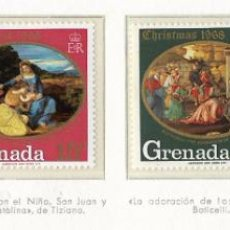 Sellos: GRENADA - NAVIDAD - 1968 - SERIE COMPLETA 4V (NR. YVERT: 274/71). Lote 173862597