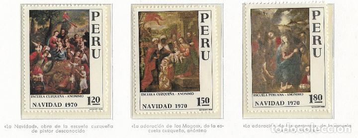 PERU - NAVIDAD - 1970 - SERIE COMPLETA 3V (NR. YVERT:) (Sellos - Temáticas - Navidad)