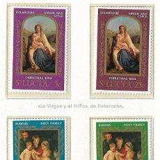 Sellos: SANTA LUCIA - NAVIDAD - 1969 - SERIE COMPLETA 4V (NR. YVERT: 255/8). Lote 173863107