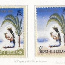 Sellos: GILBERT & ELLICE - NAVIDAD - 1969 - SERIE COMPLETA 2V (NR. YVERT: 152/3). Lote 173863254