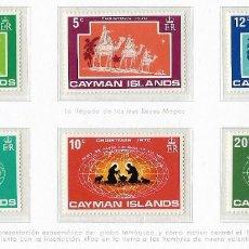 Sellos: LAS ISLAS CAIMAN - NAVIDAD - 1970 - SERIE COMPLETA 6V (NR. YVERT: 279/84). Lote 173864083