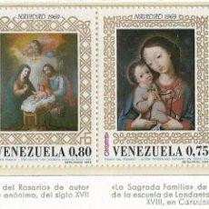 Sellos: VENEZUELA - NAVIDAD - 1969 - SERIE COMPLETA 2V (NR. YVERT: A978/9). Lote 173864610