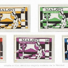 Sellos: MALAWI - NAVIDAD - 1970 - SERIE COMPLETA 5V (NR. YVERT: 138/42). Lote 173865335