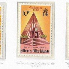 Sellos: GILBERT & ELLICE - NAVIDAD - 1970 - SERIE COMPLETA 3V (NR. YVERT: 165/67). Lote 173866475
