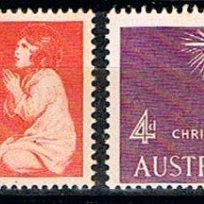 Sellos: AUSTRALIA 277/8, NAVIDAD 1957, NUEVO *** (SERIE COMPLETA). Lote 175798853