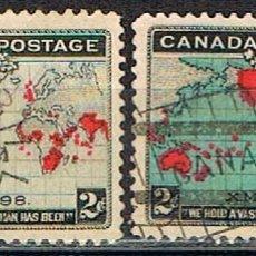 Sellos: CANADA Nº 65 Y 65 A, NAVIDAD AÑO 1898, USADO (SERIE COMPLETA). Lote 177048770