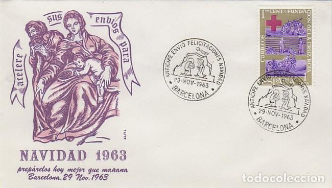 AÑO 1963, BARCELONA, ANTICIPE ENVIO DE FELICITACIONES NAVIDEÑAS, EN SOBRE DE ALFIL (Sellos - Temáticas - Navidad)