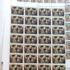 Sellos: PLIEGO DE 40 SELLOS NAVIDAD 1987 ESPAÑA 33PTS. Lote 178862156
