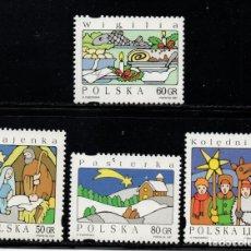 Sellos: POLONIA 3465/68** - AÑO 1997 - NAVIDAD. Lote 178959957