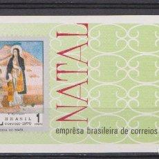 Sellos: BRASIL - NATAL, NAVIDADES 1970 - NR. MICHEL: B28. Lote 183169543