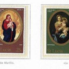 Sellos: SANTA LUCIA - NAVIDAD 1968 - 4 VALORES - NR. MICHEL: 229/2. Lote 183175646