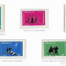 Sellos: ANGUILLA - NAVIDADES 1968 - 5 VALORES - NR. MICHEL: 44/48. Lote 183176567