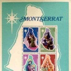 Sellos: MONTSERRAT. HB NAVIDAD: HUIDA A EGIPTO, PASTORES, VIRGEN CON NIÑO Y REYES MAGOS. 1976. SELLOS NUEVOS. Lote 183515981