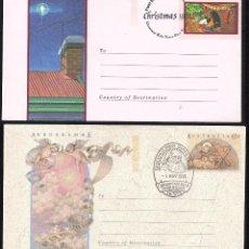 Sellos: 2 AEROGRAMAS DE AUSTRALIA NAVIDAD 1990 Y 1991. Lote 186086332