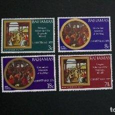Sellos: BAHAMAS-1975-Y&T 368/71**(MNH)-NAVIDAD. Lote 187473057