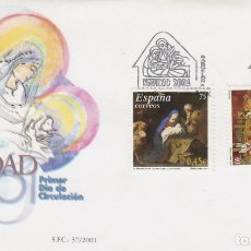Sellos: EDIFIL Nº 3835/6, NAVIDAD 2001, PRIMER DIA DE 8-11-2001. Lote 192357695