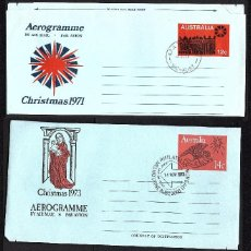 Sellos: 3 AEROGRAMAS DE AUSTRALIA NAVIDAD 1971-1973 Y 1974. Lote 193114520