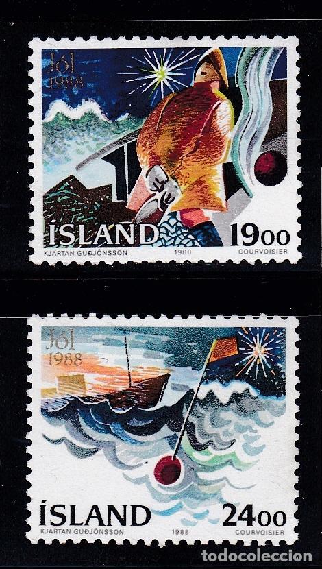 NAVIDAD157 ISLANDIA 1988 NUEVO ** MNH (Sellos - Temáticas - Navidad)