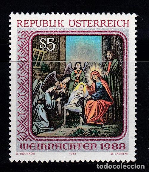 NAVIDAD170 AUSTRIA 1988 NUEVO ** MNH (Sellos - Temáticas - Navidad)