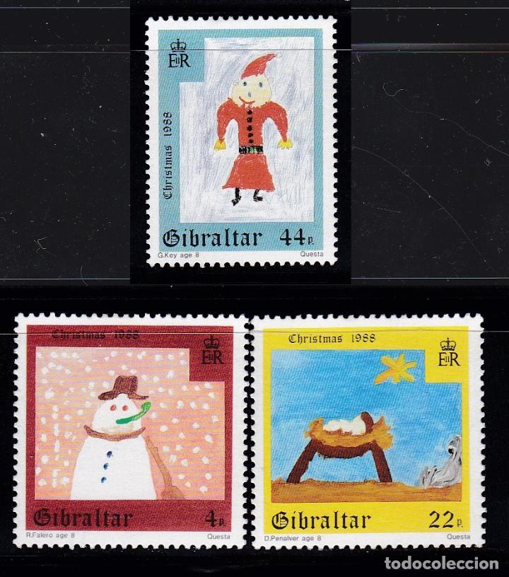 NAVIDAD165 GIBRALTAR 1988 NUEVO ** MNH (Sellos - Temáticas - Navidad)