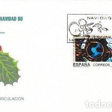 Sellos: EDIFIL 3084/5, NAVIDAD 1990, PRIMER DIA DE 22-11-1990 SFC. Lote 194495338