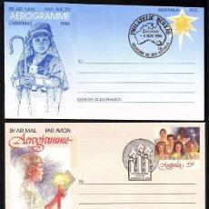 Sellos: 3 AEROGRAMAS DE AUSTRALIA NAVIDAD 1986-1987 Y 1988. Lote 194587511