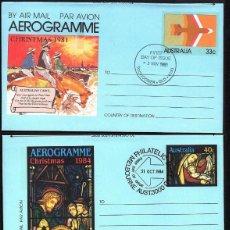 Sellos: 3 AEROGRAMAS DE AUSTRALIA NAVIDAD 1981-1984 Y 1985. Lote 194587616