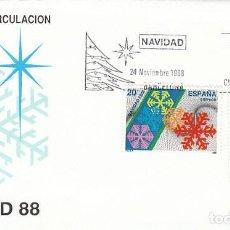 Sellos: EDIFIL Nº 2976/7, NAVIDAD 1988, PRIMER DIA 24-11-1988 SFC. Lote 194866773