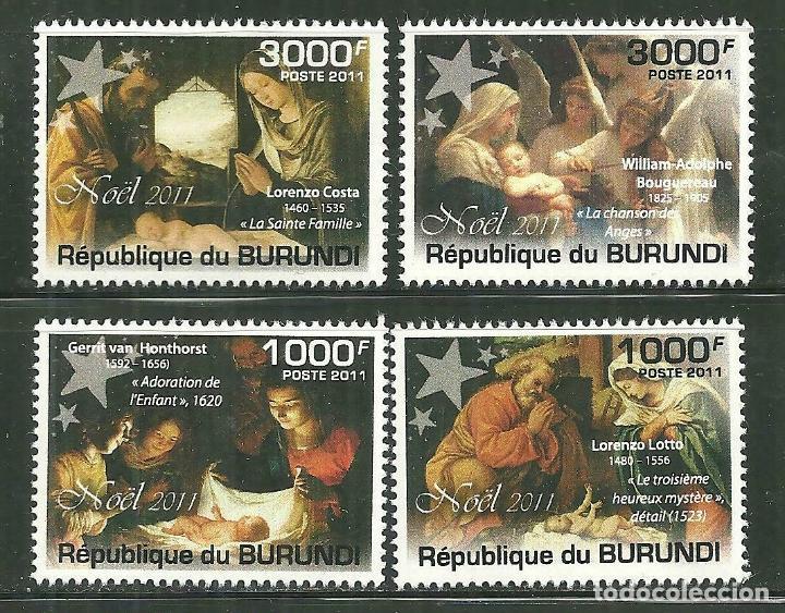 BURUNDI 2011 *** NAVIDAD - PINTURA RELIGIOSA (Sellos - Temáticas - Navidad)