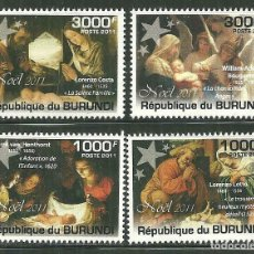 Sellos: BURUNDI 2011 *** NAVIDAD - PINTURA RELIGIOSA . Lote 195218652