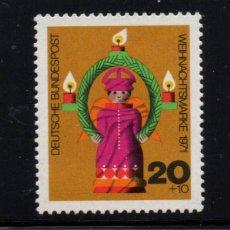 Sellos: ALEMANIA 558** - AÑO 1971 - NAVIDAD. Lote 195305251