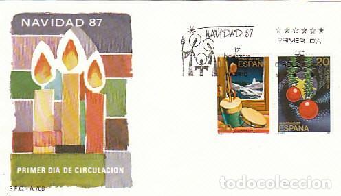 EDIFIL 2925/6, NAVIDAD 1987, PRIMER DIA DE 17-11-1987 SOBRE DEL SFC (Sellos - Temáticas - Navidad)
