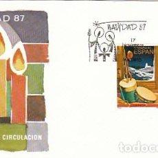 Sellos: EDIFIL 2925/6, NAVIDAD 1987, PRIMER DIA DE 17-11-1987 SOBRE DEL SFC. Lote 195488113