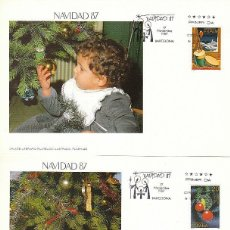Sellos: EDIFIL 2925/6, NAVIDAD 1987, PRIMER DIA DE 17-11-1987, FLASH. Lote 197110598