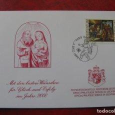 Selos: LIECHTENSTEIN 1999,FELICITACION DE NAVIDADY AÑO NUEVO 2000 DEL SERVICIO FILATELICO. Lote 198502861