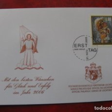 Timbres: LIECHTENSTEIN 2005, FELICITACION DE NAVIDAD Y AÑO NUEVO 2006 DEL SERVICIO FILATELICO. Lote 198503525
